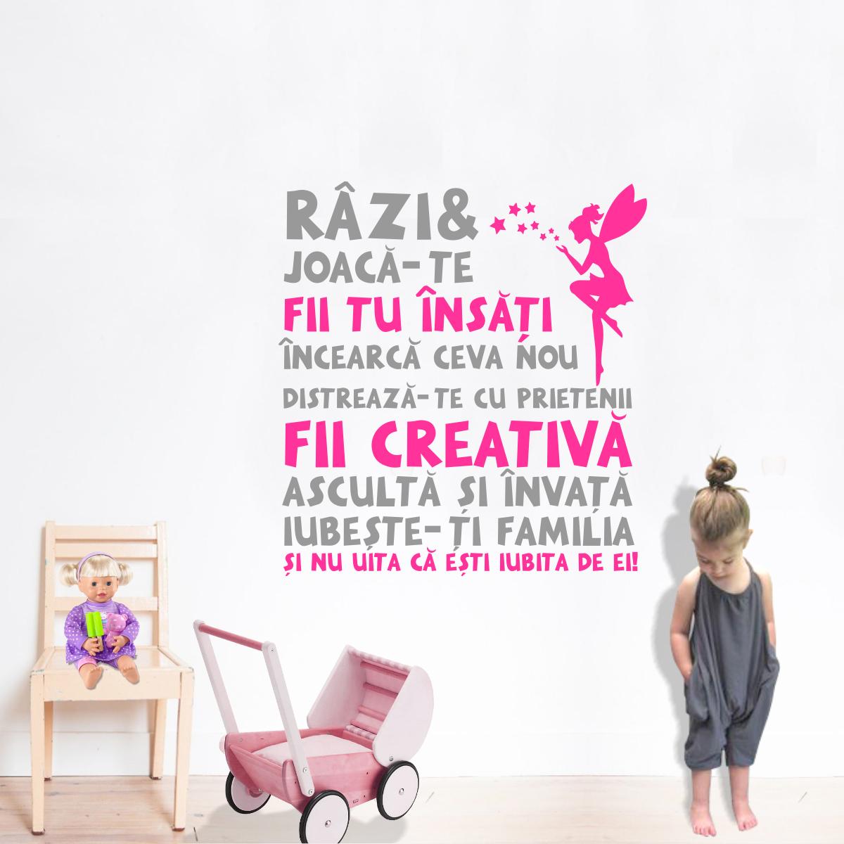Stickere perete copii Citat pentru fetite - 74x80 cm imagine