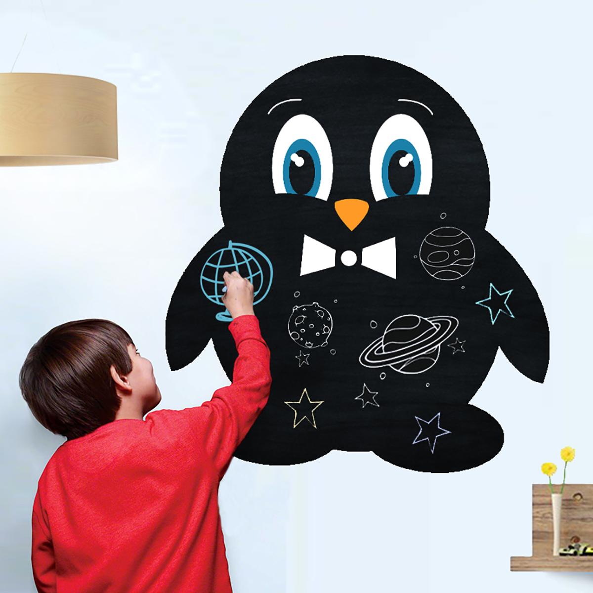 Stickere perete copii Tabla de scris Pinguin - 84 x 90 cm imagine