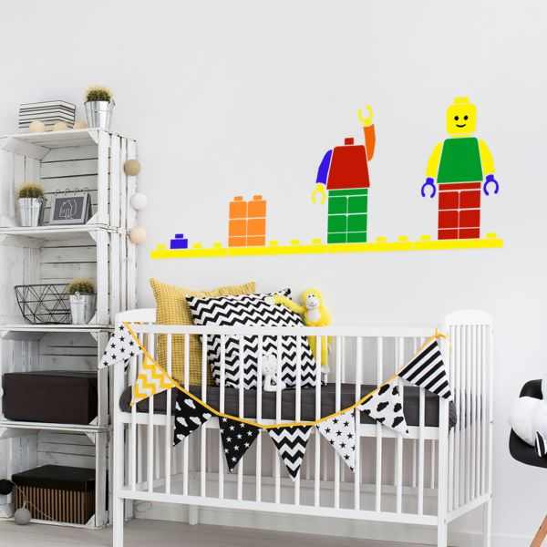 Sticker decorativ Lego Man - 100 x 35 cm imagine