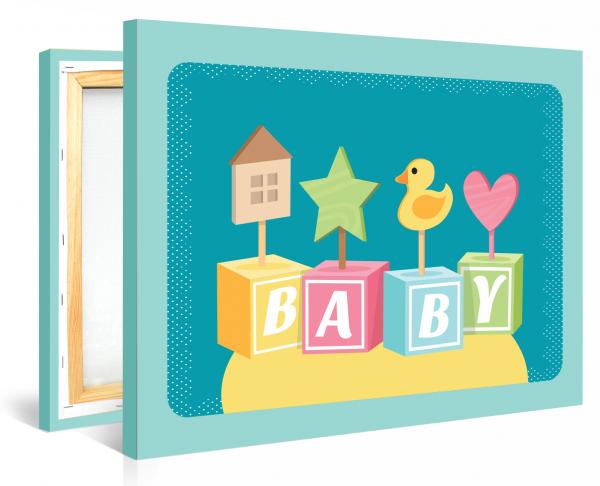 Tablou canvas Baby decor - 35 x 50 cm