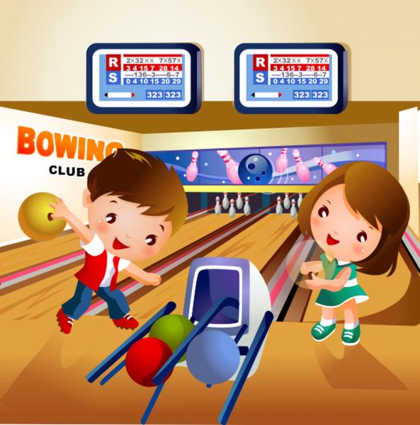 Tablou canvas Bowling - 40 x 40 cm imagine