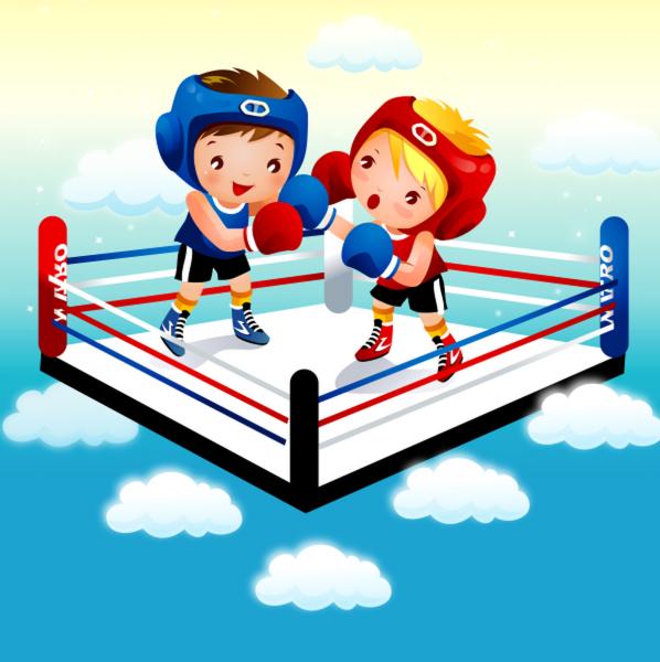 Tablou canvas Boxing - 40 x 40 cm imagine