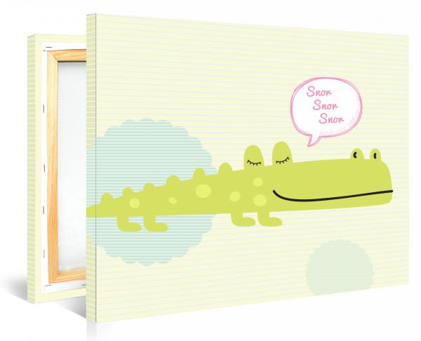 Tablou canvas Crocodilul fericit - 70 x 100 cm