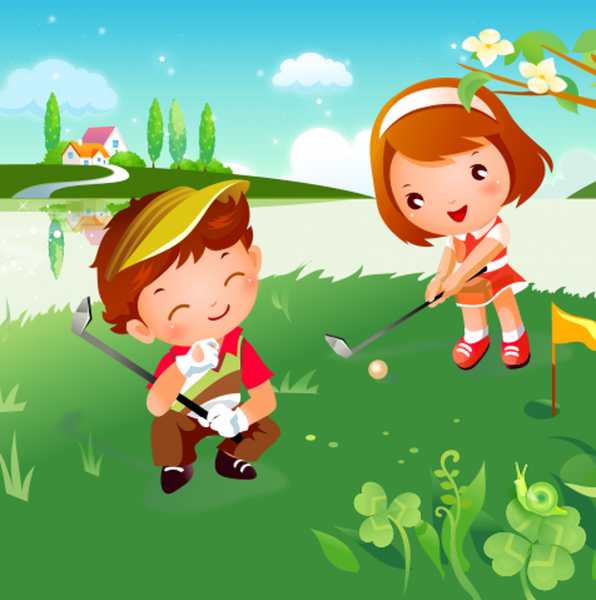 Tablou canvas Golf 2 - 40 x 40 cm imagine