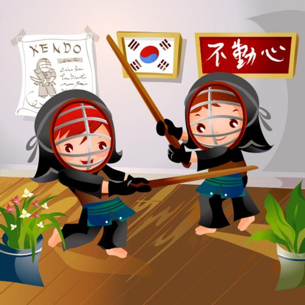 Tablou canvas Samurai - 20 x 20 cm imagine
