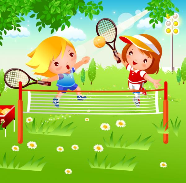 Tablou canvas tenis de camp - 20 x 20 cm imagine