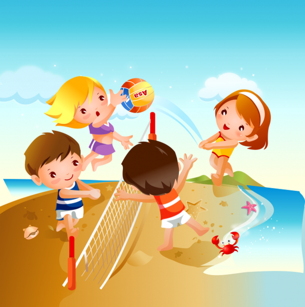 Tablou canvas Volei pe plaja - 20 x 20 cm