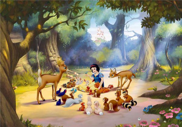 Fototapet Disney Alba ca Zapada si animale imagine