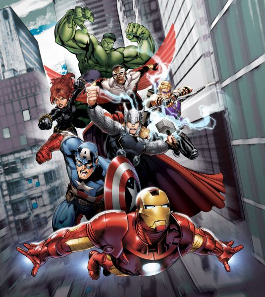 Fototapet Disney Avengers la lupta - 180x202 cm (pe comanda 2 sapt) imagine