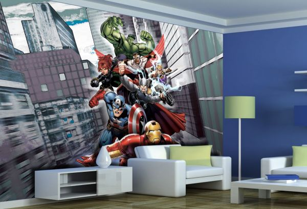 Fototapet Disney Avengers Lupta - 360x270 cm (pe comanda 2 sapt) imagine