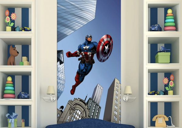 Fototapet Disney Capitan America Avengers - 90x202 cm (pe comanda 2 sapt) imagine
