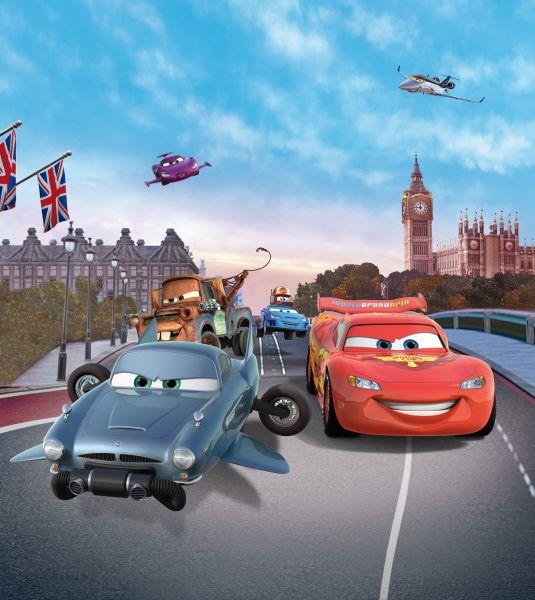 Fototapet Disney Cars la Big Ben Londra - 180x202 cm (pe comanda 2 sapt) imagine