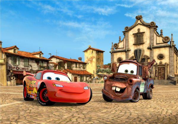 Fototapet Disney Cars McQueen Mater Italia - 360x270 cm (pe comanda 2 sapt) imagine