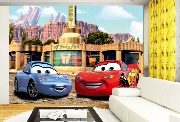 Fototapet Disney Cars McQueen si Sally - 360 x 270 cm imagine