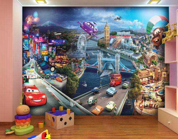Fototapet Disney Cars Town - 360 x 270 cm imagine