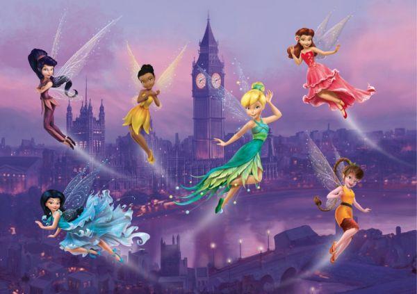 Fototapet Disney Clopotica si Zane in Londra - 255 x 180 cm imagine
