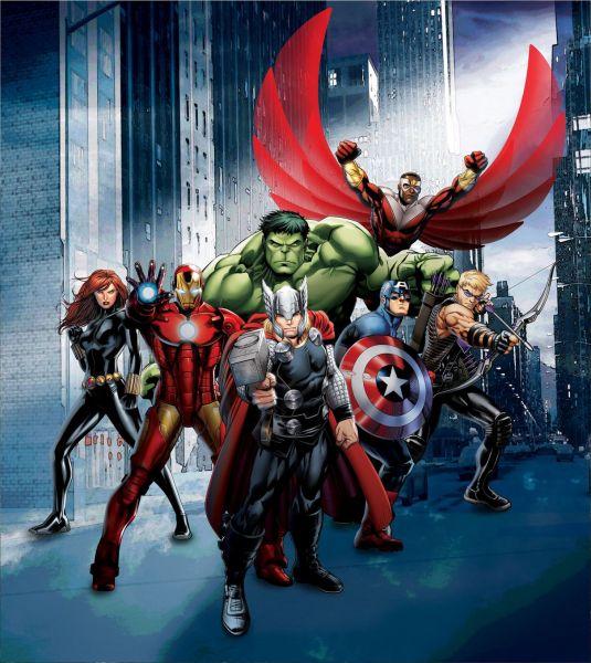 Fototapet Disney Eroii Avengers - 180x202 cm (pe comanda 2 sapt) imagine