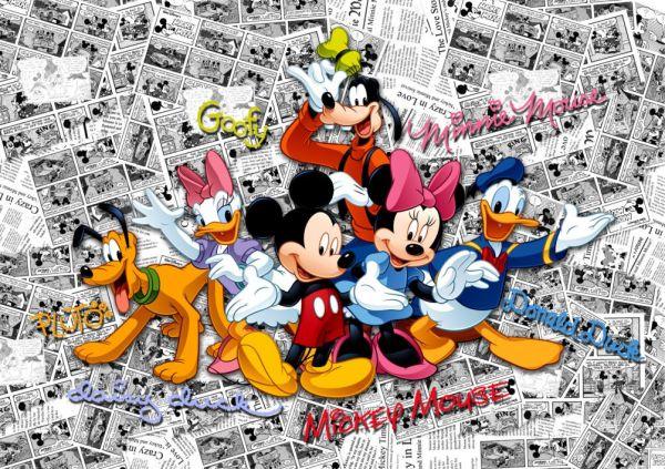 Fototapet Disney Mickey Mouse Comics - 360 x 270 cm imagine