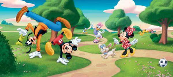 Fototapet Disney Mickey si Pluto Jonglerii - 202 x 90 cm imagine