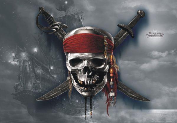 Fototapet Disney Piratii din Caraibe Craniu - 160 x 115 cm imagine