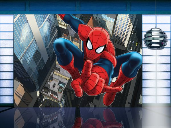 Fototapet Disney Spiderman la inaltime - 360 x 270 cm