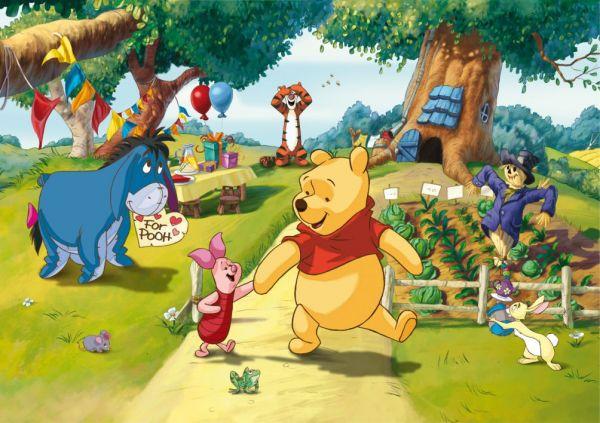 Fototapet Disney Winnie The Pooh si Piglet - 255 x 180 cm imagine