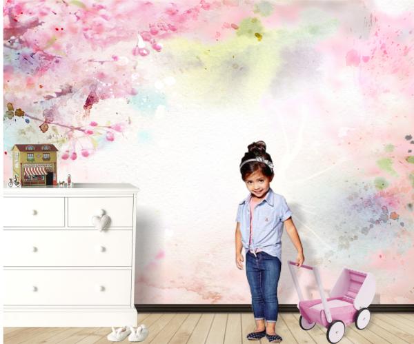 Fototapet Dreamy Pink - 375 x 250 cm imagine