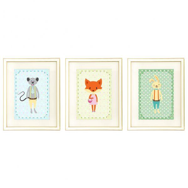 Set tablouri cu rama Polka Dots & Friends