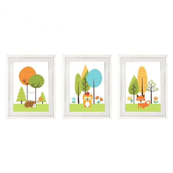 Set tablouri cu rama Printre Copacei imagine