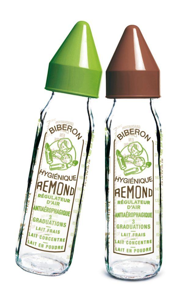 "dBb Remond - Biberon sticla 240 ml, ""Vintage"", maro, tetina anticolici din silicon NN 0-4 luni imagine"