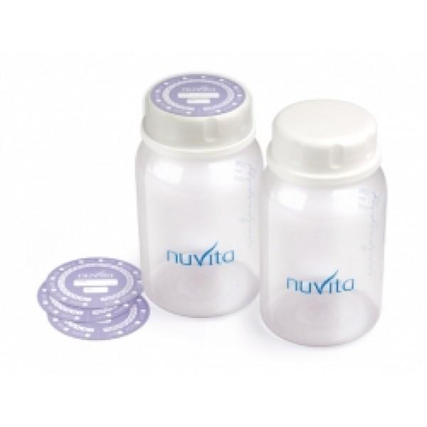 SET 2 RECIPIENTE COLECTARE LAPTE, BPA 0 % imagine
