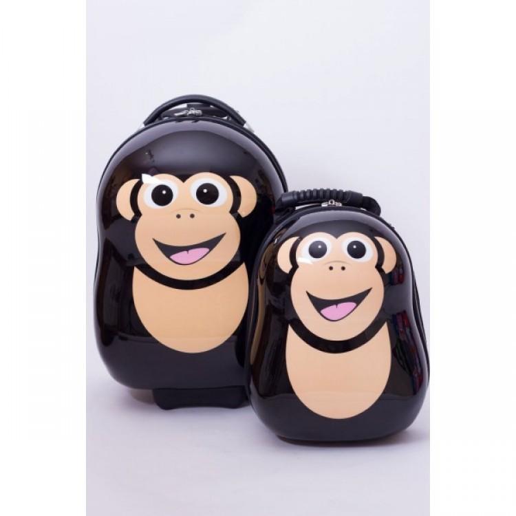 Ghiozdan Si Valiza Tip Trolley Cheeki The Chimp