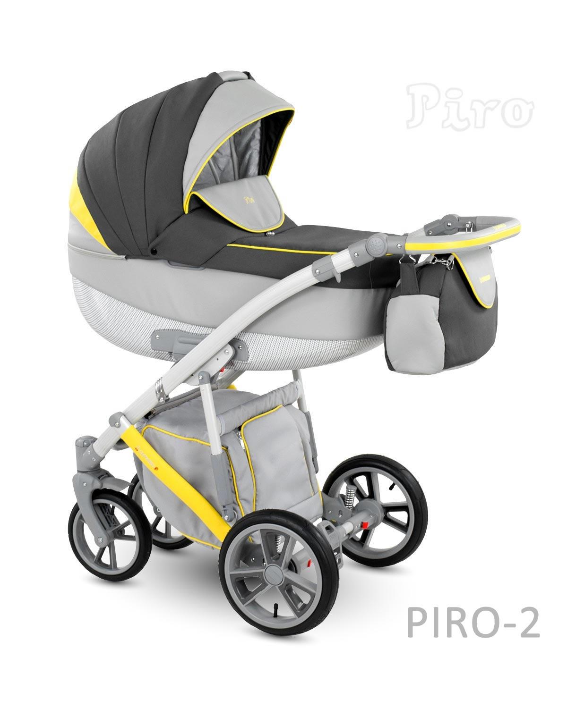 Carucior copii 2 in 1 PIRO 2017 CAMARELO COLOR PR-2
