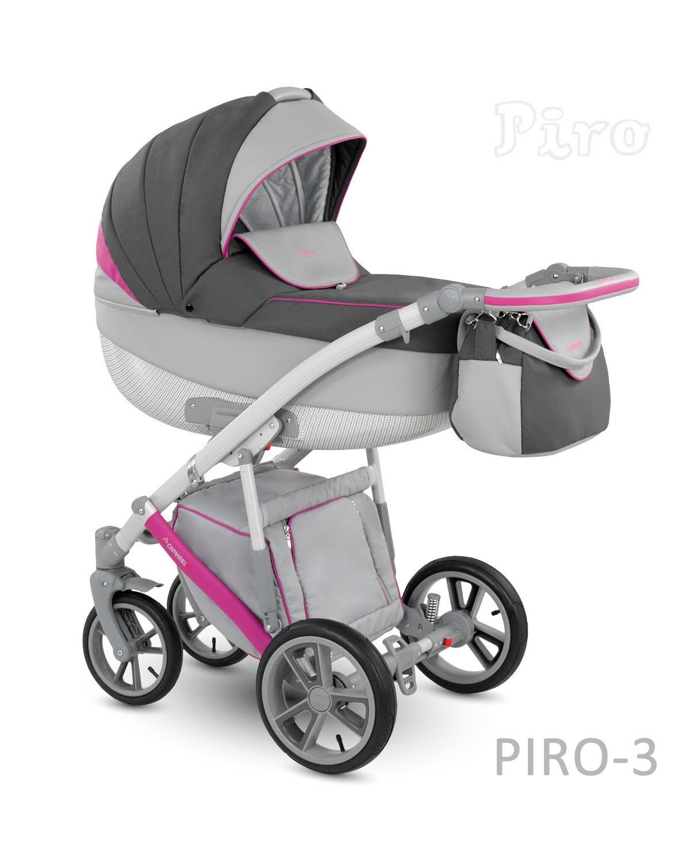 Carucior copii 2 in 1 PIRO 2017 CAMARELO COLOR PR-3