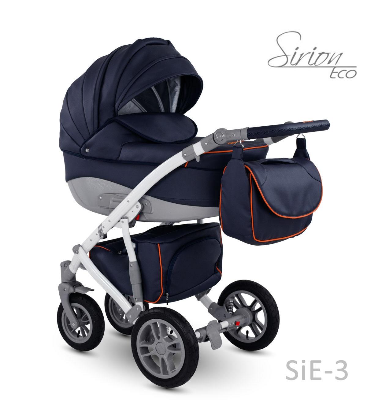 Carucior copii 3 in 1 Sirion Eco CAMARELO COLOR SIE-3