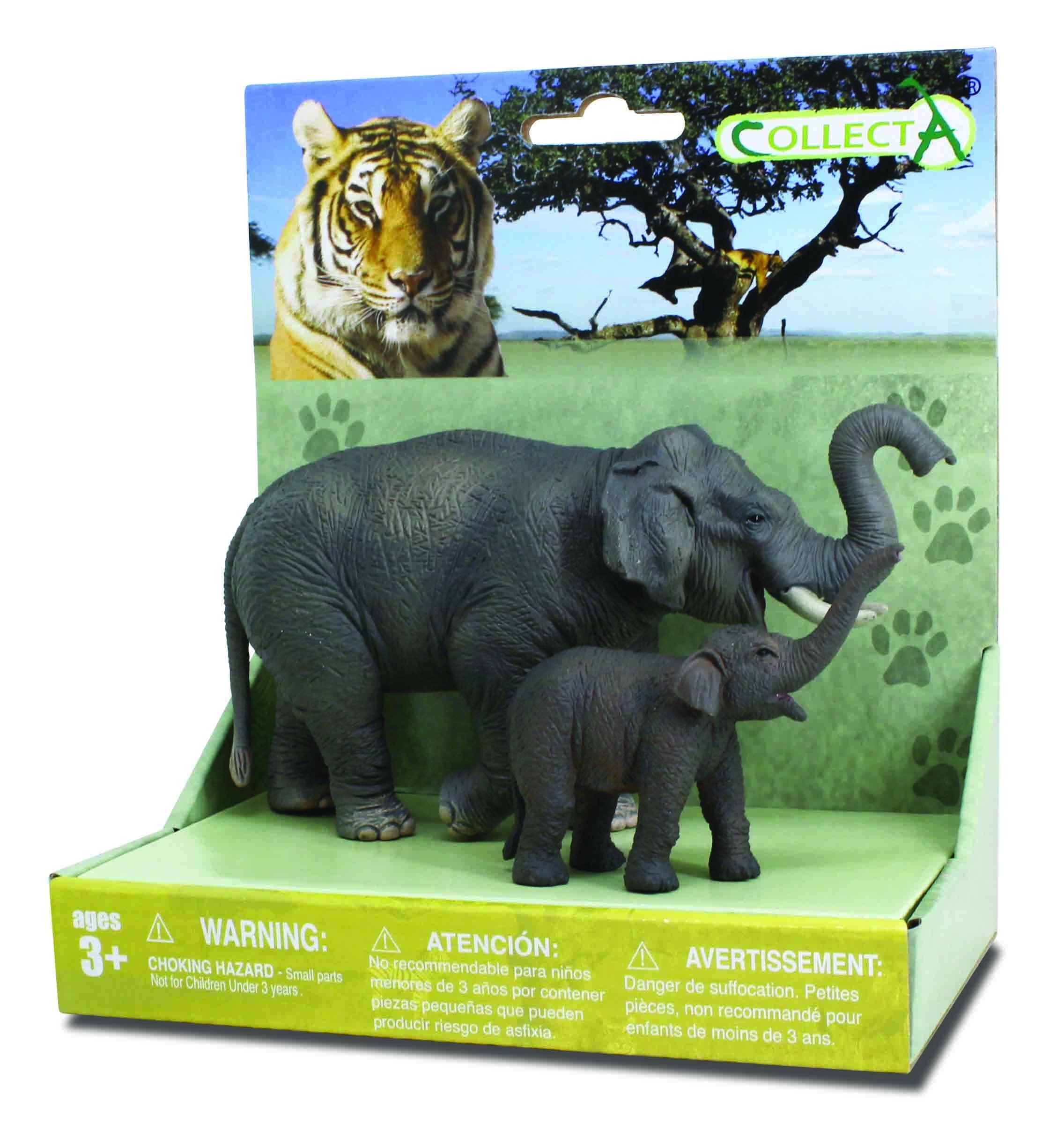 Set 2 Figurine Elefant Asiatic cu pui Collecta