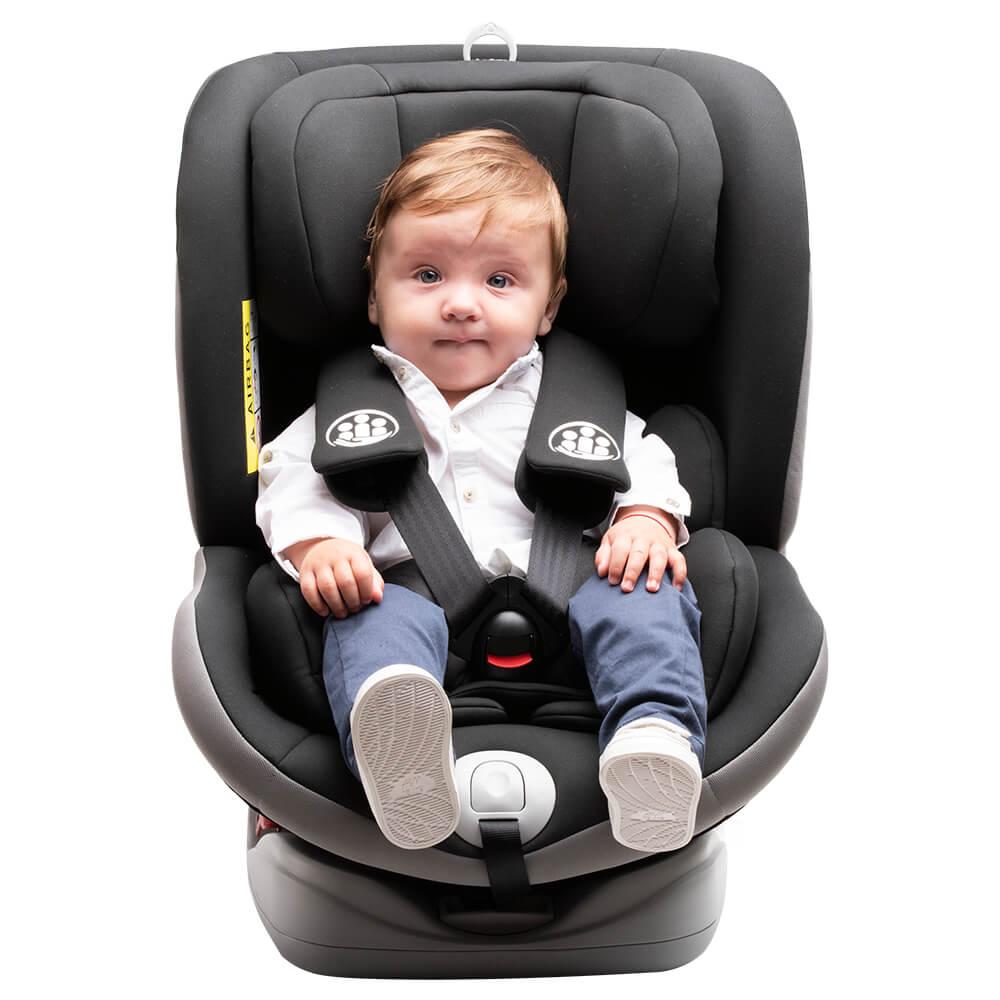 Scaun auto Allegra rotativ cu Isofix 0-36kg negru KidsCare imagine