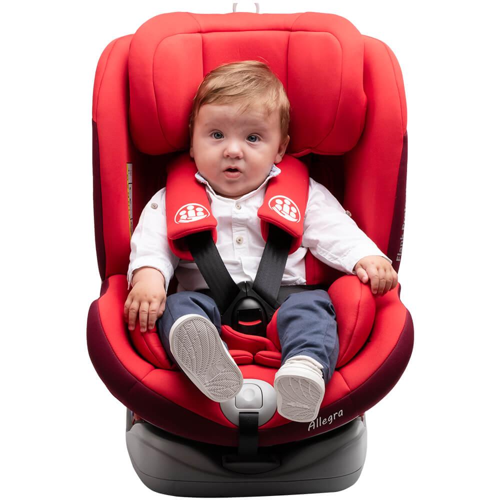 Scaun auto Allegra rotativ cu Isofix 0-36kg rosu KidsCare imagine