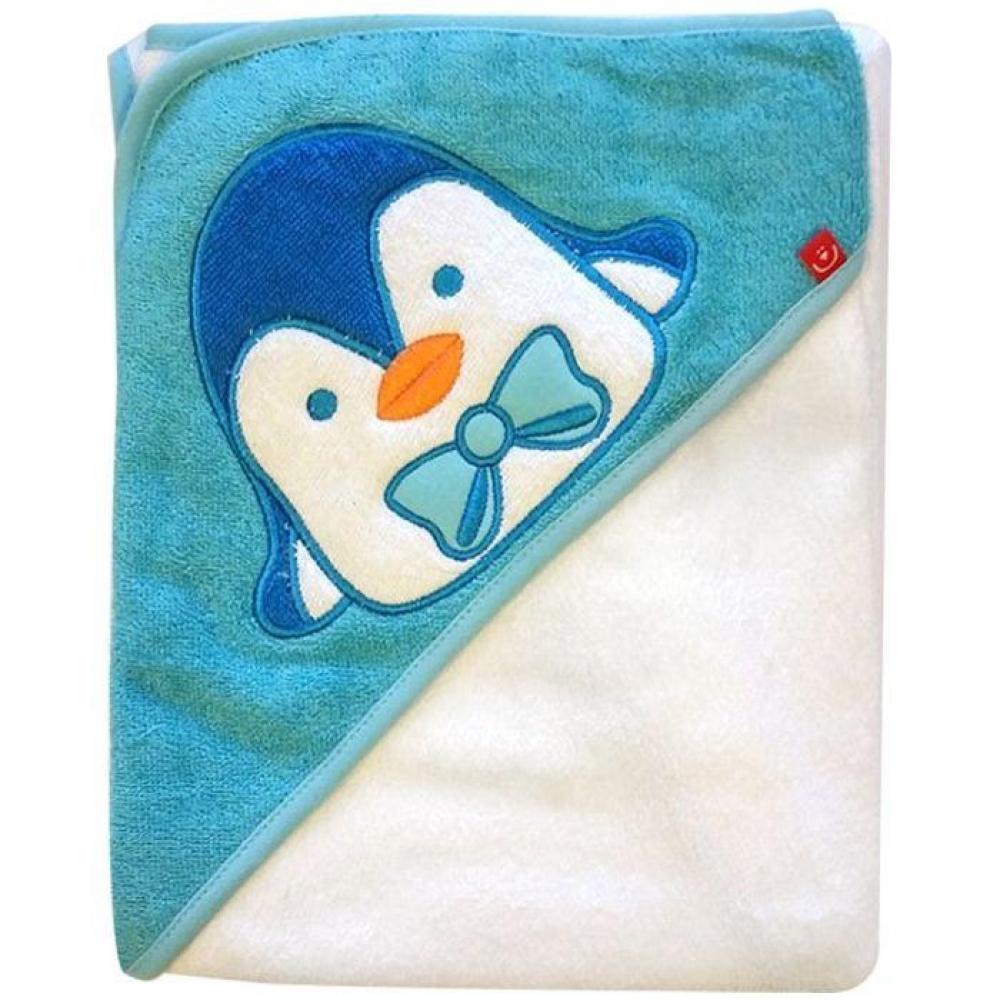 Prosop cu capison 76x76 cm - Bobobaby - Pinguin Alb