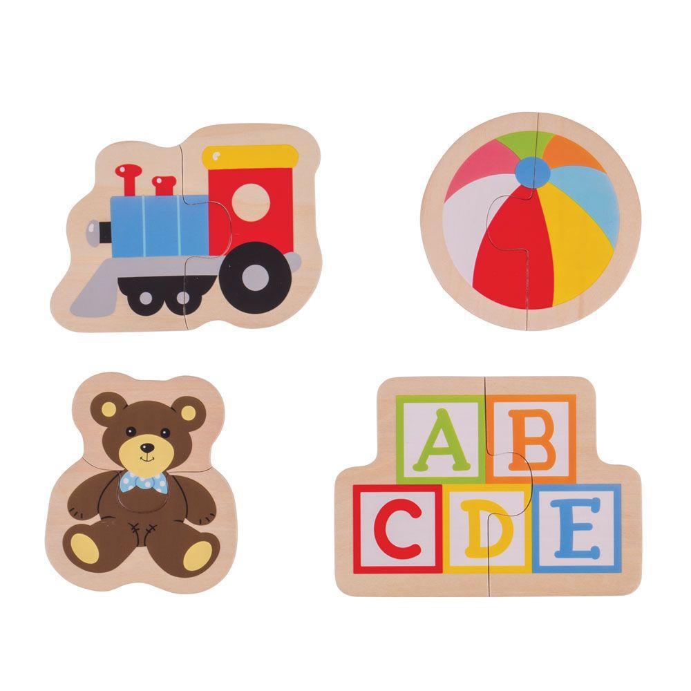 Puzzle din lemn - Jucarii (8 piese) imagine