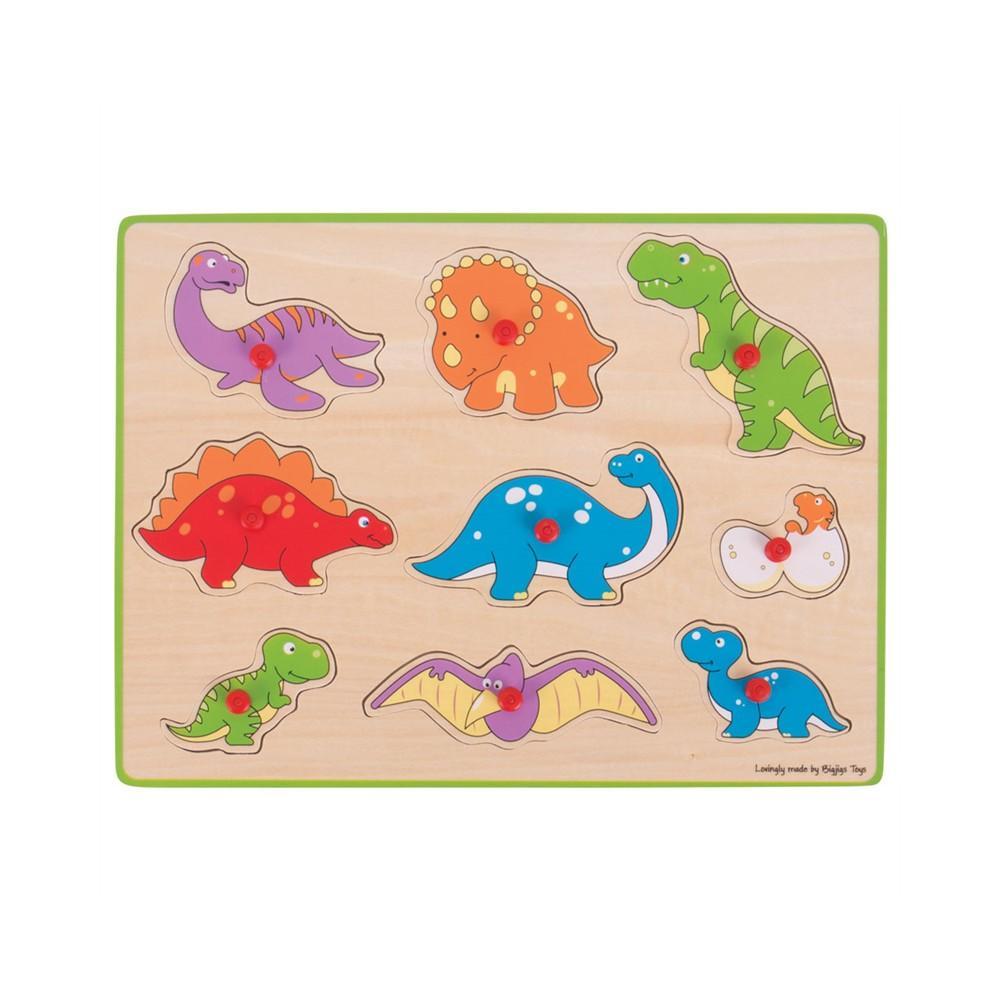 Puzzle din lemn incastru - Dinozauri imagine