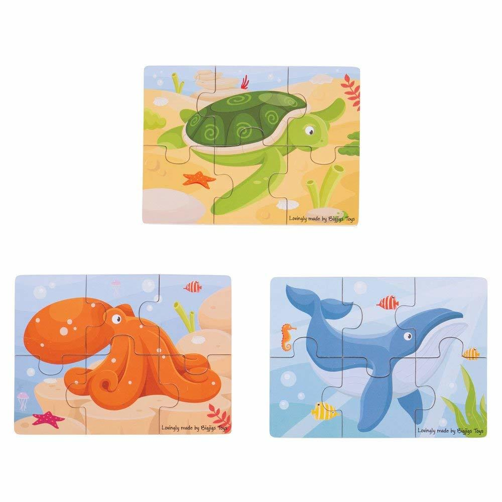 Set 3 puzzle din lemn - Lumea acvatica image0