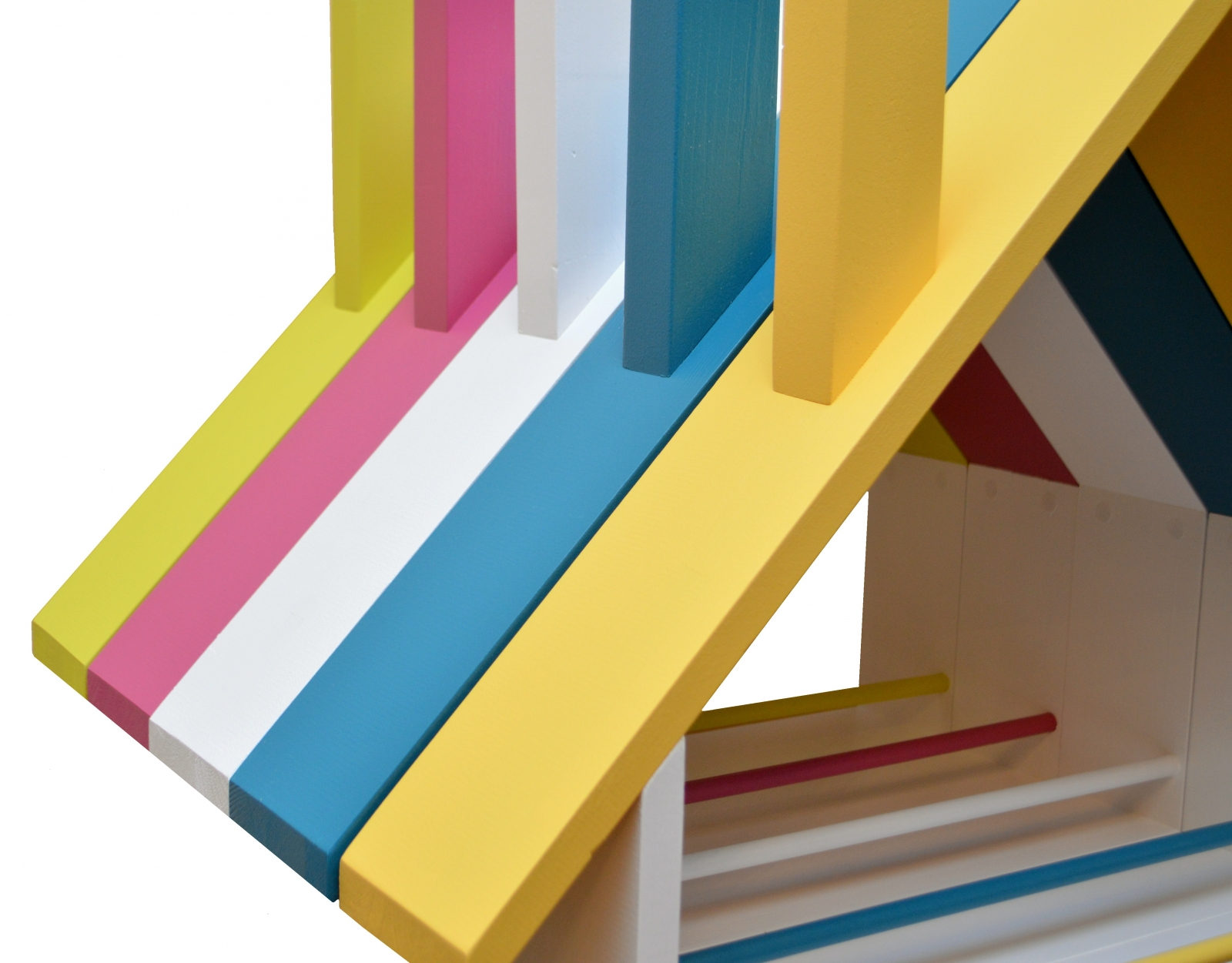 Biblioteca Casuta Book House –  120x60x11cm Galben