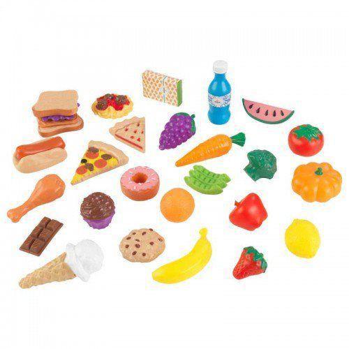 Set alimente de jucarie din lemn 30 piese