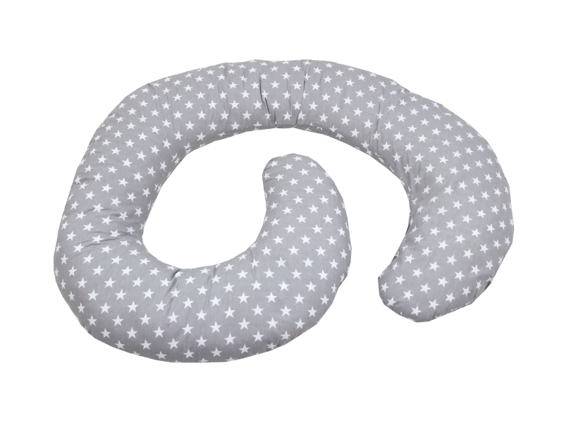 Perna De Alaptare Multifunctionala MyKids Stelute Grey-White imagine