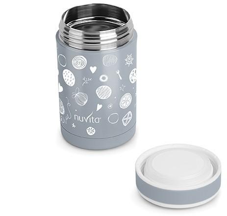 Nuvita Termos inox mancare solida 500 ml - grey 1472 imagine