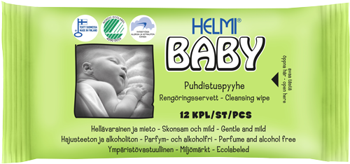 Servetele umede Muumi Baby HELMI Finlanda, 64 bucati