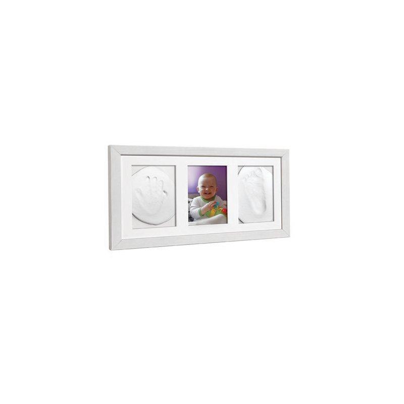 Baby HandPrint - Double Memory Frame White