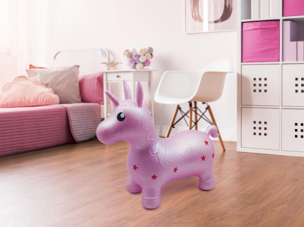 LUDI Unicorn saltaret Roz imagine