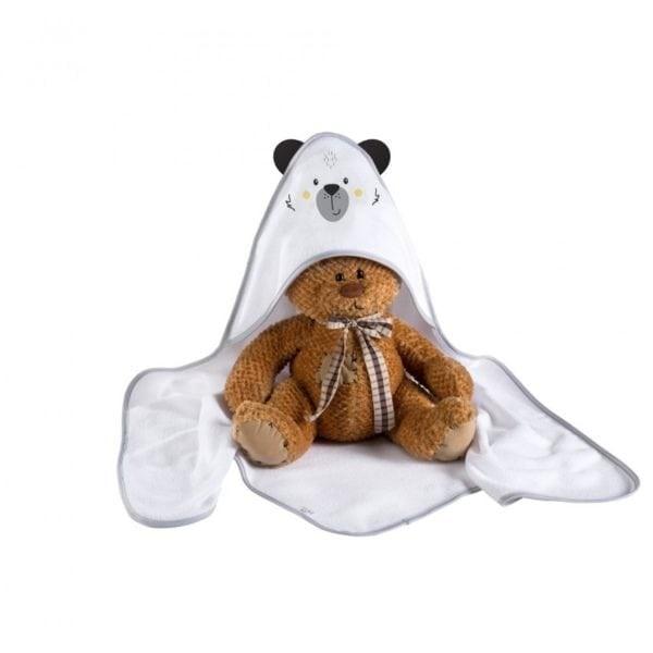 Albero Mio Prosop de baie cu gluga - K084 Funny Teddy Bear